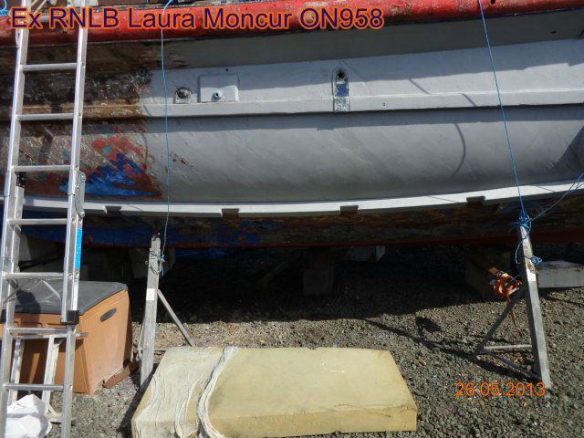 UPPER BILGE KEEL, PRIMED READY FOR STEEL